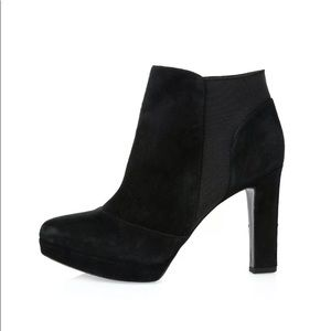 VIA SPIGA GINGI black suede platform Heel boot 9